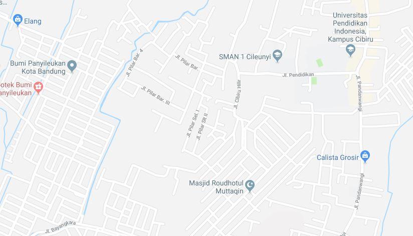 Peta Airis Residence Cibiru Bandung
