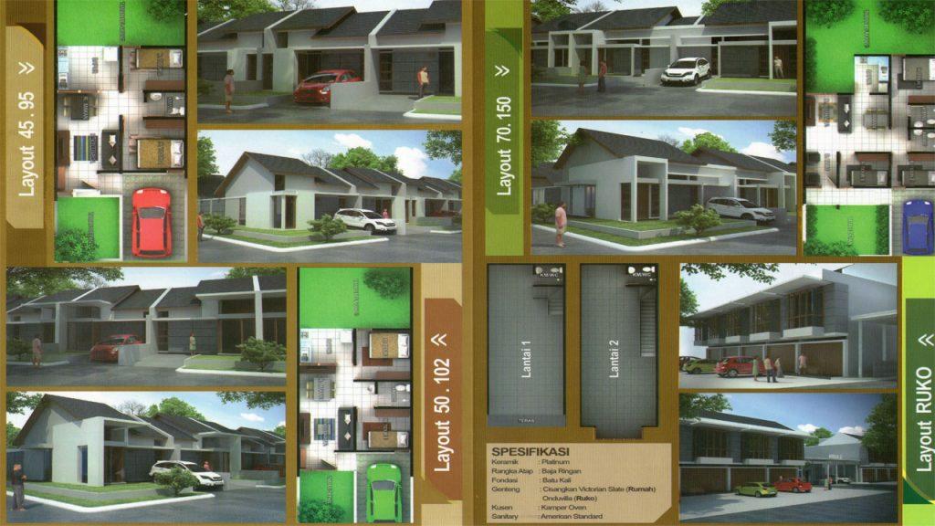 Tipe dan Denah Rumah Akita Bojongsoang Bandung